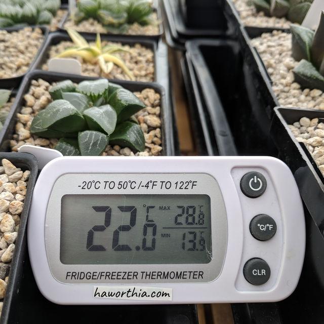 一个记录日最高和最低温的温度计对决定浇水与其他活动的时机很有用。